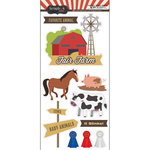 Scrapbook Customs - Fun at the Fair Collection - Cardstock Stickers - Fair Farm