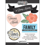 Scrapbook Customs - Religious Collection - Cardstock Stickers - In Loving Memory