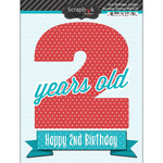 Scrapbook Customs - Happy Birthday Collection - 3 Dimensional Stickers - 2nd Birthday