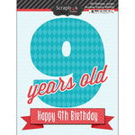 Scrapbook Customs - Happy Birthday Collection - 3 Dimensional Stickers - 9th Birthday