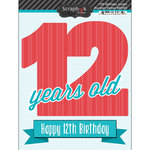 Scrapbook Customs - Happy Birthday Collection - 3 Dimensional Stickers - 12th Birthday