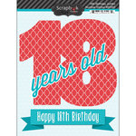 Scrapbook Customs - Happy Birthday Collection - 3 Dimensional Stickers - 18th Birthday