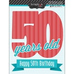 Scrapbook Customs - Happy Birthday Collection - 3 Dimensional Stickers - 50th Birthday