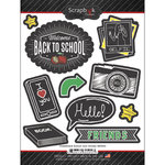 Scrapbook Customs - Chalkboard Stickers - School Icon