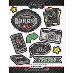 Scrapbook Customs - Chalkboard Stickers - School Icon