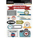 Scrapbook Customs - Retirement Collection - Cardstock Stickers - Happy Retirement