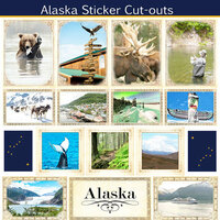 Scrapbook Customs - State Sightseeing Collection - 12 x 12 Sticker Cut Outs - Alaska