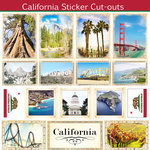 Scrapbook Customs - State Sightseeing Collection - 12 x 12 Sticker Cut Outs - California