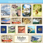 Scrapbook Customs - State Sightseeing Collection - 12 x 12 Sticker Cut Outs - Idaho