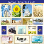 Scrapbook Customs - State Sightseeing Collection - 12 x 12 Sticker Cut Outs - Kansas