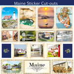 Scrapbook Customs - State Sightseeing Collection - 12 x 12 Sticker Cut Outs - Maine