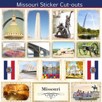 Scrapbook Customs - State Sightseeing Collection - 12 x 12 Sticker Cut Outs - Missouri