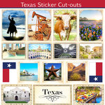 Scrapbook Customs - State Sightseeing Collection - 12 x 12 Sticker Cut Outs - Texas