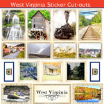 Scrapbook Customs - State Sightseeing Collection - 12 x 12 Sticker Cut Outs - West Virginia