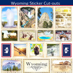 Scrapbook Customs - State Sightseeing Collection - 12 x 12 Sticker Cut Outs - Wyoming