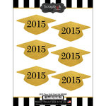 Scrapbook Customs - Cardstock Stickers - 2015 Grad Hat