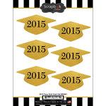 Scrapbook Customs - Cardstock Stickers - 2015 Grad Hat