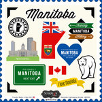 Scrapbook Customs - Canadian Provinces Sightseeing Collection - 12 x 12 Cardstock Stickers - Manitoba