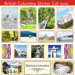 Scrapbook Customs - Canadian Provinces Sightseeing Collection - 12 x 12 Sticker Cut Outs - British Columbia