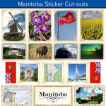 Scrapbook Customs - Canadian Provinces Sightseeing Collection - 12 x 12 Sticker Cut Outs - Manitoba