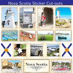 Scrapbook Customs - Canadian Provinces Sightseeing Collection - 12 x 12 Sticker Cut Outs - Nova Scotia