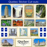 Scrapbook Customs - Canadian Provinces Sightseeing Collection - 12 x 12 Sticker Cut Outs - Quebec