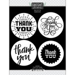 Scrapbook Customs - Cardstock Stickers - Thank You Card Circles