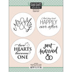 Scrapbook Customs - Cardstock Stickers - Wedding Card Circles