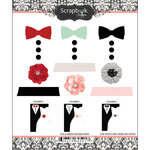 Scrapbook Customs - Cardstock Stickers - Tux and Dress