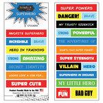 Scrapbook Customs - Superhero Collection - Cardstock Stickers - Word