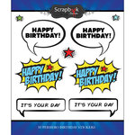 Scrapbook Customs - Superhero Collection - Cardstock Stickers - Birthday