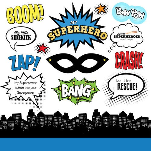 Scrapbook Customs - Superhero Collection - Cardstock Stickers