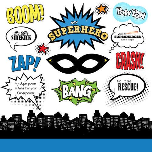 Scrapbook Customs - Superhero Collection - Cardstock Stickers