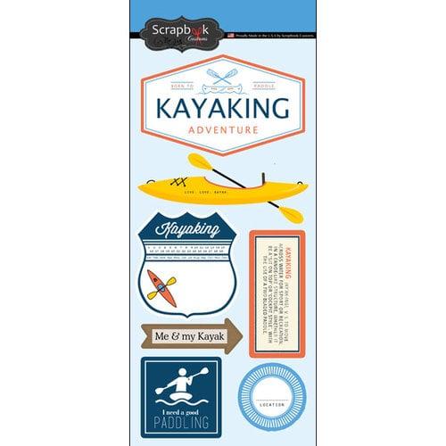Scrapbook Customs - Cardstock Stickers - Kayaking Adventure