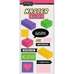 Scrapbook Customs - Cardstock Stickers - Building Block Girl