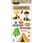 Scrapbook Customs - Cardstock Stickers - Camping Adventure