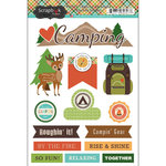 Scrapbook Customs - Doo Dads - Self Adhesive Metal Badges - Camping Adventure