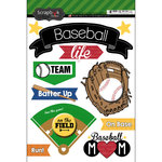 Scrapbook Customs - Baseball Life Collection - Doo Dads - Stickers