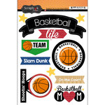 Scrapbook Customs - Basketball Life Collection - Doo Dads - Stickers