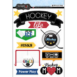 Scrapbook Customs - Hockey Life Collection - Doo Dads - Stickers