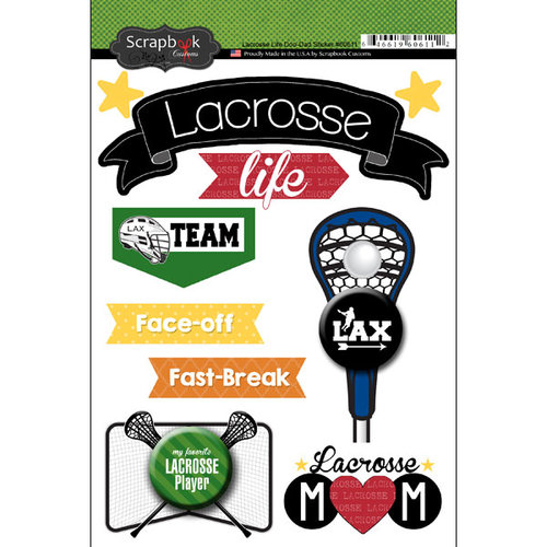 Scrapbook Customs - Lacrosse Life Collection - Doo Dads - Stickers