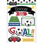 Scrapbook Customs - Soccer Life Collection - Doo Dads - Stickers