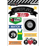 Scrapbook Customs - Wrestling Life Collection - Doo Dads - Stickers