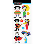 Scrapbook Customs - Day of the Dead Collection - Stickers - Skeleton People