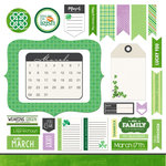 Scrapbook Customs - 12 x 12 Cardstock Stickers - March Memory Elements