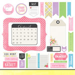 Scrapbook Customs - 12 x 12 Cardstock Stickers - April Memory Elements