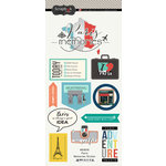 Scrapbook Customs - Travel Adventure Collection - Cardstock Stickers - Paris Memories