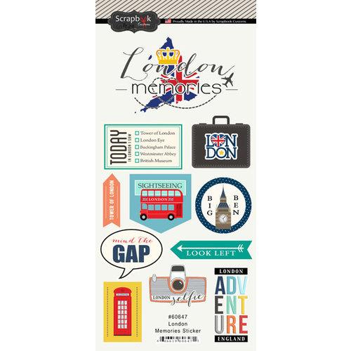 Scrapbook Customs - Travel Adventure Collection - Cardstock Stickers - London Memories