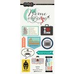 Scrapbook Customs - Travel Adventure Collection - Cardstock Stickers - Rome Memories