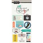 Scrapbook Customs - Travel Adventure Collection - Cardstock Stickers - Venice Memories